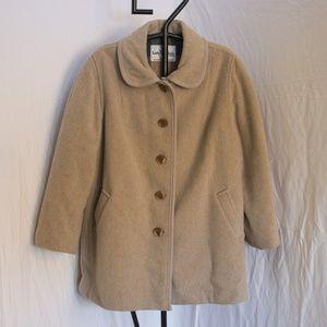 Vintage Lady Penguin Wool Button Coat Size 20 1/2